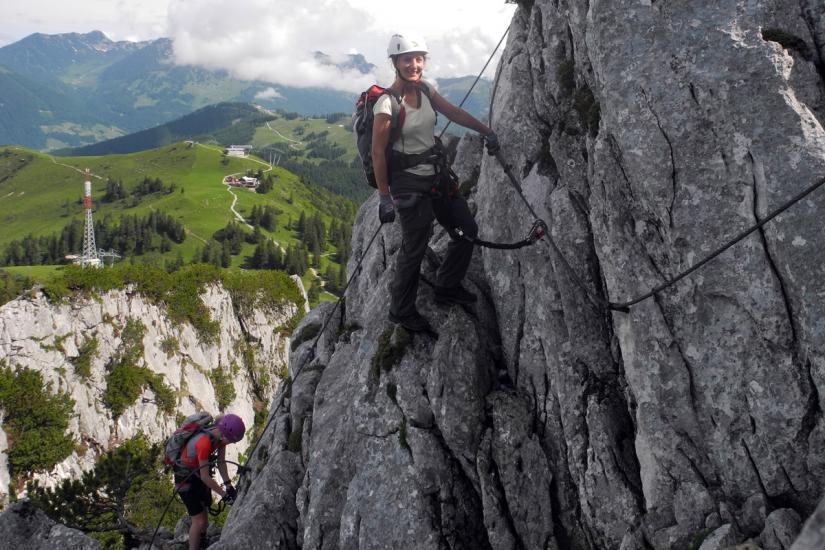Klettersteig Intersport : Donnerkogel intersport klettersteig
